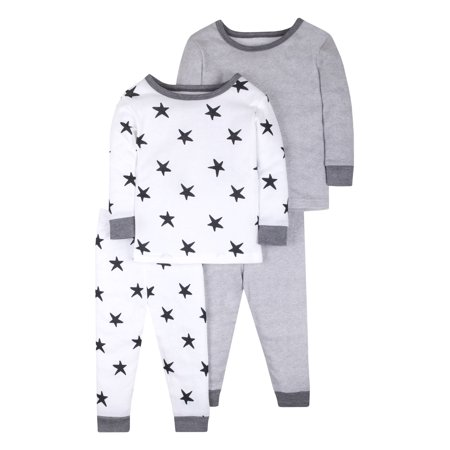 Pure Organic True Brights Tight Fit Pajamas, Sleepwear, Cotton Set, 4 Pc (Baby Girls & Toddler Girls, Baby Boys & Toddler Boys, Unisex)](Girls Night Out Accessories)