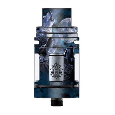 Skin Decal Vinyl Wrap for Smok TFV8 X-Baby Tank Vape skins stickers cover/ Howling Wolves at (Pics Of Wolves Howling At The Moon)