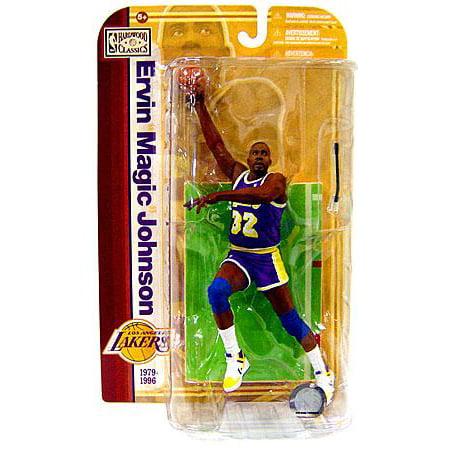 Mcfarlane Nba Sports Picks Legends Series 5 Magic Johnson Action Figure  Purple Jersey