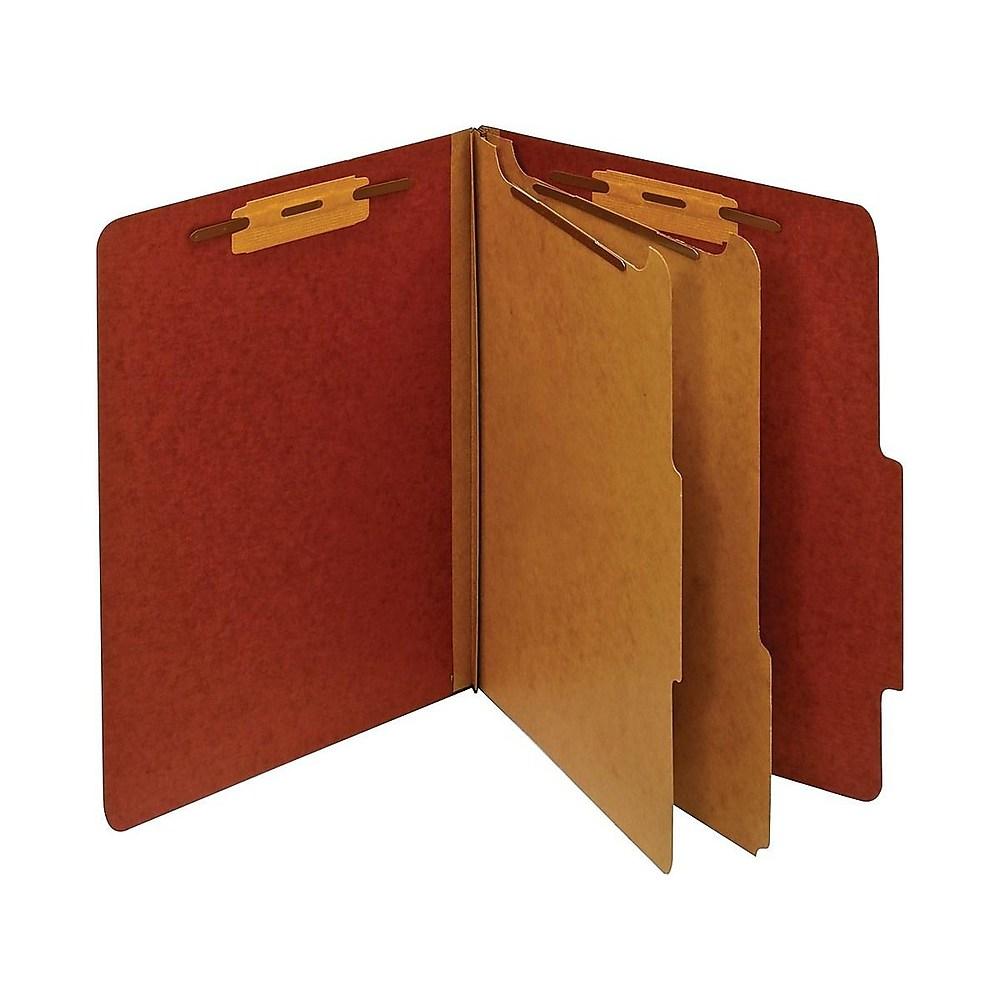 Staples Rcyc Class. Folders 2/5-Cut Tab Ltr 2 Dividers Brick Rd 20/BX 614617