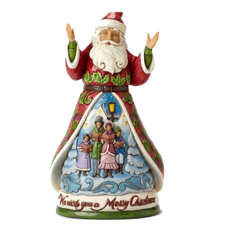 Jim Shore We Wish You A Merry Christmas Song Santa Figurine 4053703 HWC (Song Santa)