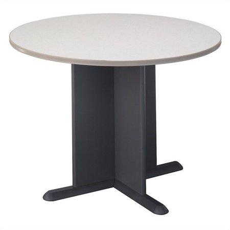 Scranton & Co Round Conference Table in White Spectrum