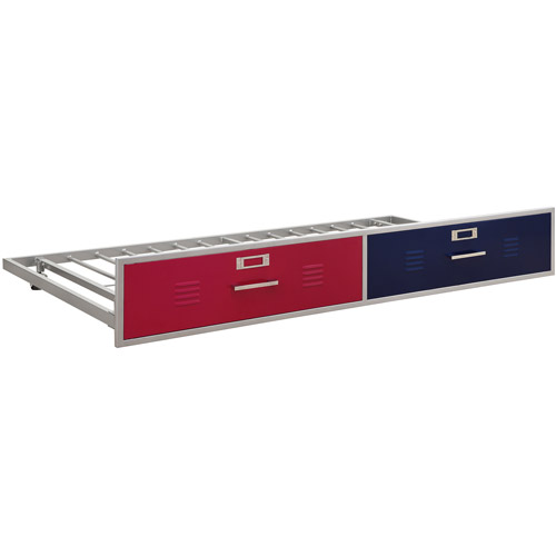 Trundle for Junior Shelf and Storage Loft Bed, Red/Blue
