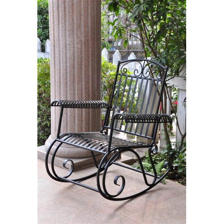 - Iron Scroll Patio Rocker