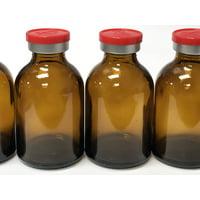 30ml Sterile Amber Vial 10pk Red