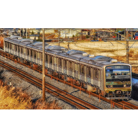 Acrylic Face Mounted Prints Railroad Train Outside Japan Passenger Print 14 x 11. Worry Free Wall Installation - Shadow Mount is Included. ()