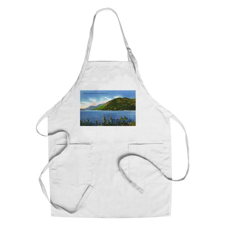 Lake George  New York   Lake View Of Deers Leap Mountain  Cotton Polyester Chefs Apron