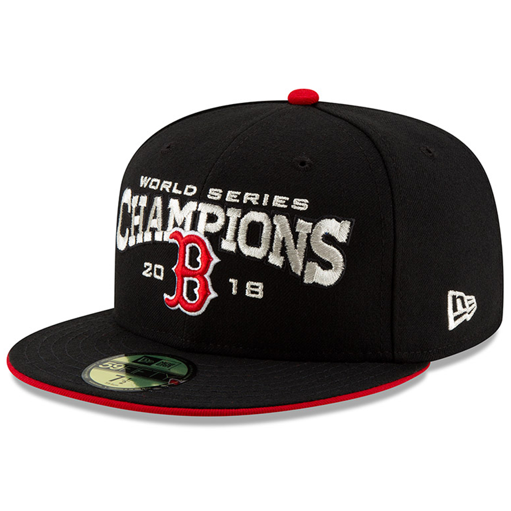 Boston Red Sox New Era 2018 World Series Champions 59FIFTY Fitted Hat - Black