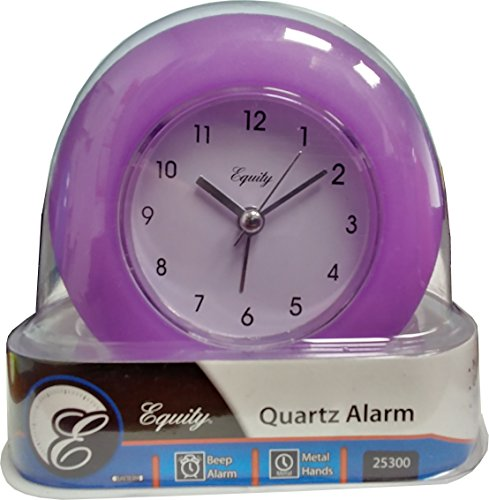 Equity 25300 Frosted Alarm Clock (Purple)