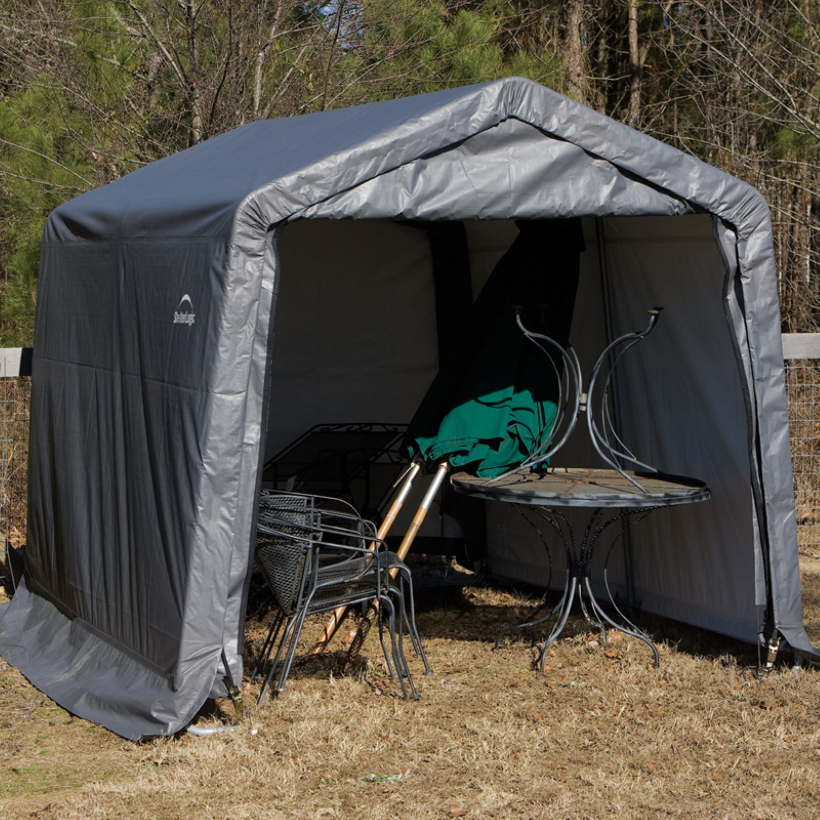 10' x 16' x 8' Peak Style Shelter, Green