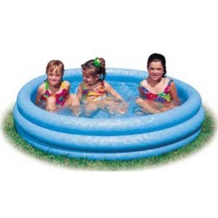 Inflatable Crystal Blue Swimming Pool (45in X 10in) Multi-Colored](Plastic Kid Pool)