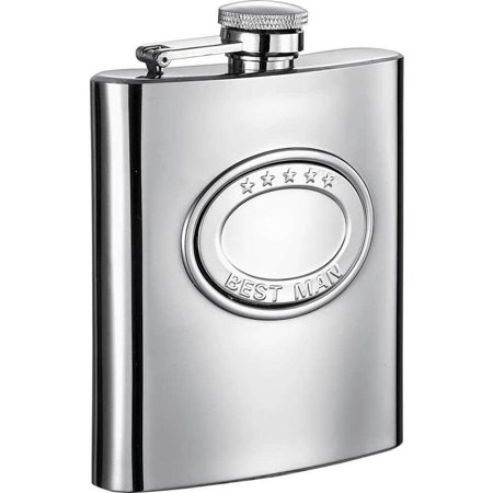 Visol  5 Stars Best Man Embossed Stainless Steel 8-ounce Liquor