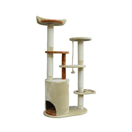 "55"" Cat Tree Condo Scratching Post Furniture Scratcher House - image 2 de 7"