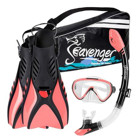 Seavenger Voyager Snorkeling Set | Travel Fins, Snorkel