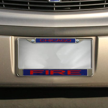 Chicago Fire SC Acrylic Insert Chrome License Plate Frame - No Size Chrome Plated Insert