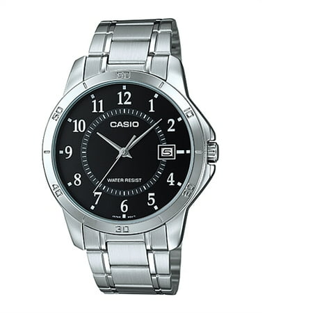 MENS ANALOG BLACK DIAL S/S BAND MTP-V004D-1BUDF ()