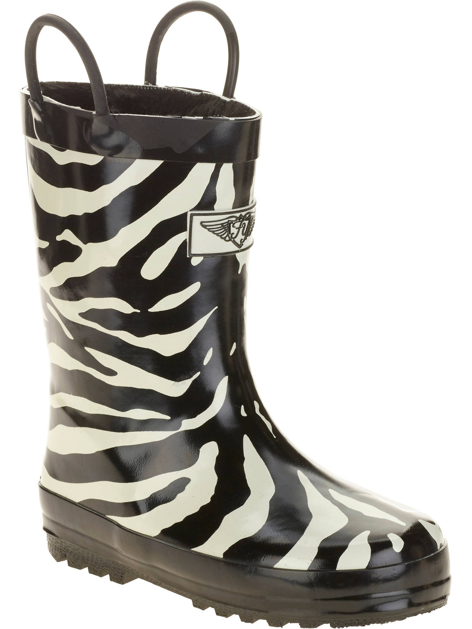 Forever Young Kids' Zebra Printed Tall Rain Boot