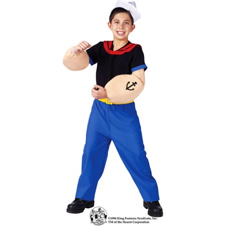 Popeye Child Halloween Costume - 40 Costume