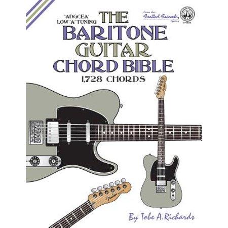 The Baritone Guitar Chord Bible Low A Tuning 1728 Chords Walmart