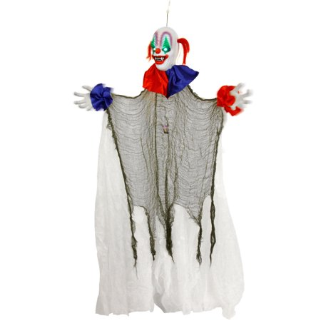 Halloween Haunters 5ft Animated Hanging Spinning Circus Clown Prop - Spin Halloween Nyc