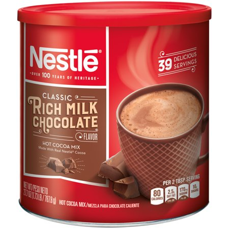 (2 Pack) NESTLE Rich Milk Chocolate Hot Cocoa Mix 27.7 oz. Canister
