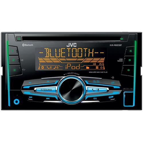 Jvc Kw-r920bts Car Cd Player - 88 W Rms - Ipod/iphone Compatible - Double Din - Cd-rw - Cd-da, Wav, Mp3, Wma, Flac, Aac - Am, Fm - 18, 6 X Fm, Am Preset - Bluetooth - Usb - Auxiliary Input (kwr920bts)