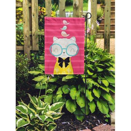 POGLIP Cat I Love You Valentine Day Book for Children Garden Flag Decorative Flag House Banner 12x18 inch - image 2 of 2