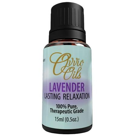 Lavender Essential Oil By Ovvio Oils   Premium Therapeutic Grade   100  Pure Aromatherapy   Natural Anti Inflammatory   Origin  Bulgaria   Large 15Ml