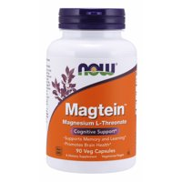NOW Supplements, Magtein with patented form of Magnesium (Mg), Cognitive Support*, 90 Veg Capsules