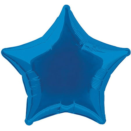 Star Wars Shaped Balloon - Foil Balloon, Star, 20 in, Royal Blue, 1ct