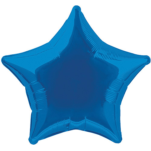 Foil Balloon, Star, 20 in, Royal Blue, 1ct