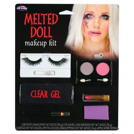 Halloween Melted Doll Makeup Kit by Fun - Halloween Creepy Doll Makeup