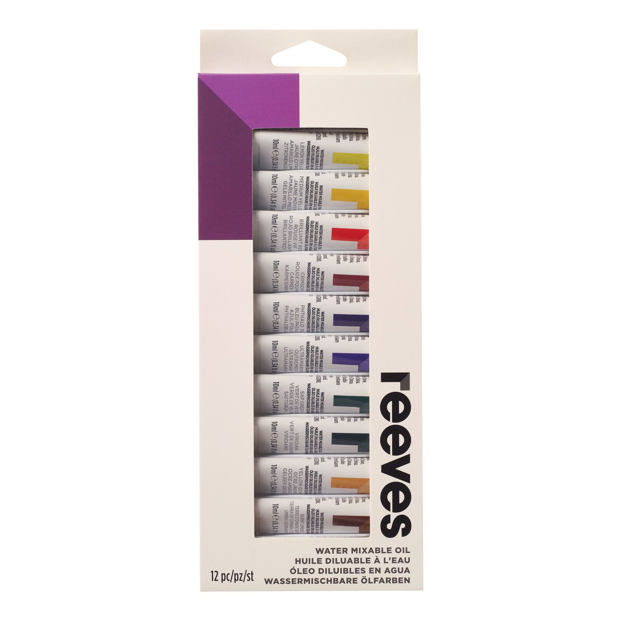 Reeves Water Mixable Oil Color Sets, 12-Colors