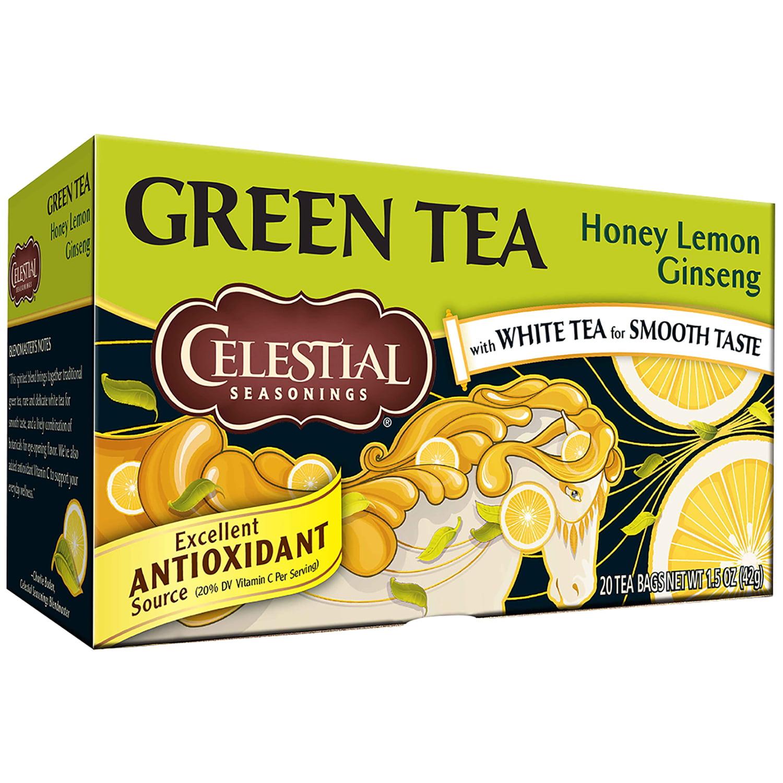 Celestial Seasonings Honey Lemon Ginseng Green Tea Bags 20 ct Box by Celestial Seasonings, Inc., The Hain Celestial Group, Inc.