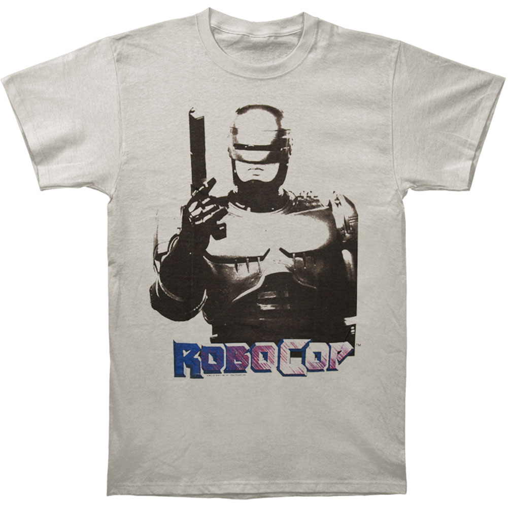 Robocop Men's  Robogun Slim Fit T-shirt Grey