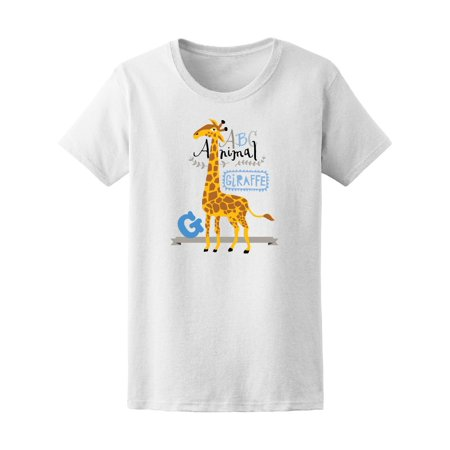 Abc Shirts (Abc Animals: G Is For Giraffe Tee Women's -Image by)