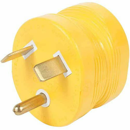 Camco PowerGrip Durable Electrical Adapter - Easy Grip for Simple and Safe Use, 30 AMP Male 15 AMP Female