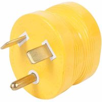 Camco PowerGrip Durable Electrical Adapter - Easy Grip for Simple and Safe Use, 30 AMP Male 15 AMP Female (55233)