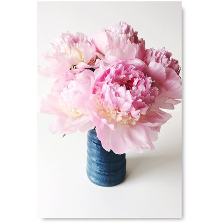 Awkward Styles Peony Flower Poster Art Peonies Wall Art Girls Room Decor Inspirational Pink Print Foliage Room Decor Pink Peony Framed Art Original Vinyl Art Beautiful Floral Art Home Decor Ideas