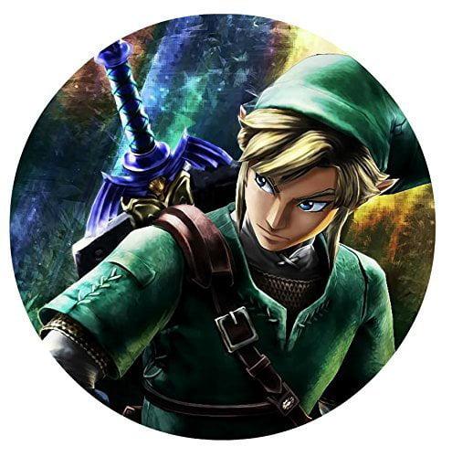 "Legend of Zelda Edible Image Photo 8"" Round Cake Topper Sheet Personalized Custom Customized Birthday Party"