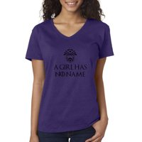 New Way 688 - Women's V-Neck T-Shirt A Girl Has No Name Game Of Thrones