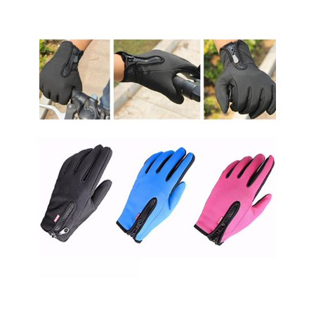 - 1 Pair Outdoor Windproof Waterproof Winter Thermal Warm Touch Screen Gloves Mittens Fleece Snowboard Skiing Riding Cycling Bike Sports Gloves