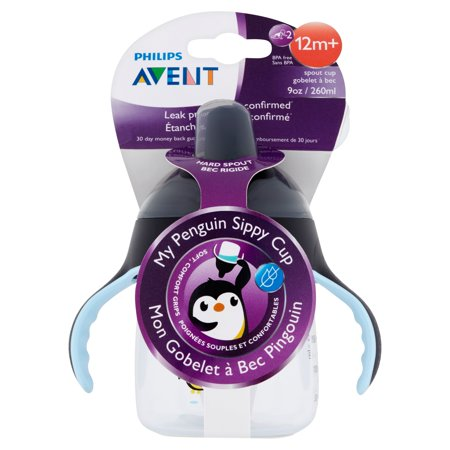 Philips Avent My Penguin Sippy Cup  9 Ounces  6 Months   Stage 2  Bpa Free