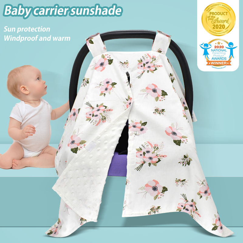 Lnkoo Carseat Canopy And Nursing Cover Up With Peekaboo Opening Large Infant Car Seat Canopy Nursing Carseat Cover For Girl Or Boy Best Baby Shower Gift For Breastfeeding Moms
