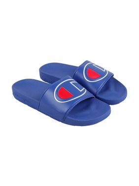 fd92fc7ce Product Image Champion Ipo Mens Blue Leather Slide Slip On Sandals Shoes