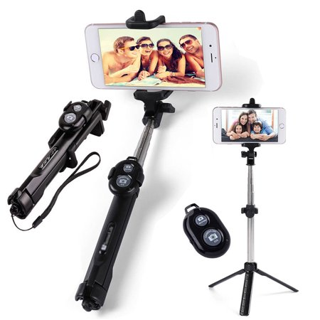 Extendable Selfie Stick Tripod Remote Controller Shutter For iPhone X 8 Plus Samsung Galaxy Note 8 S8 Plus S9 Plus
