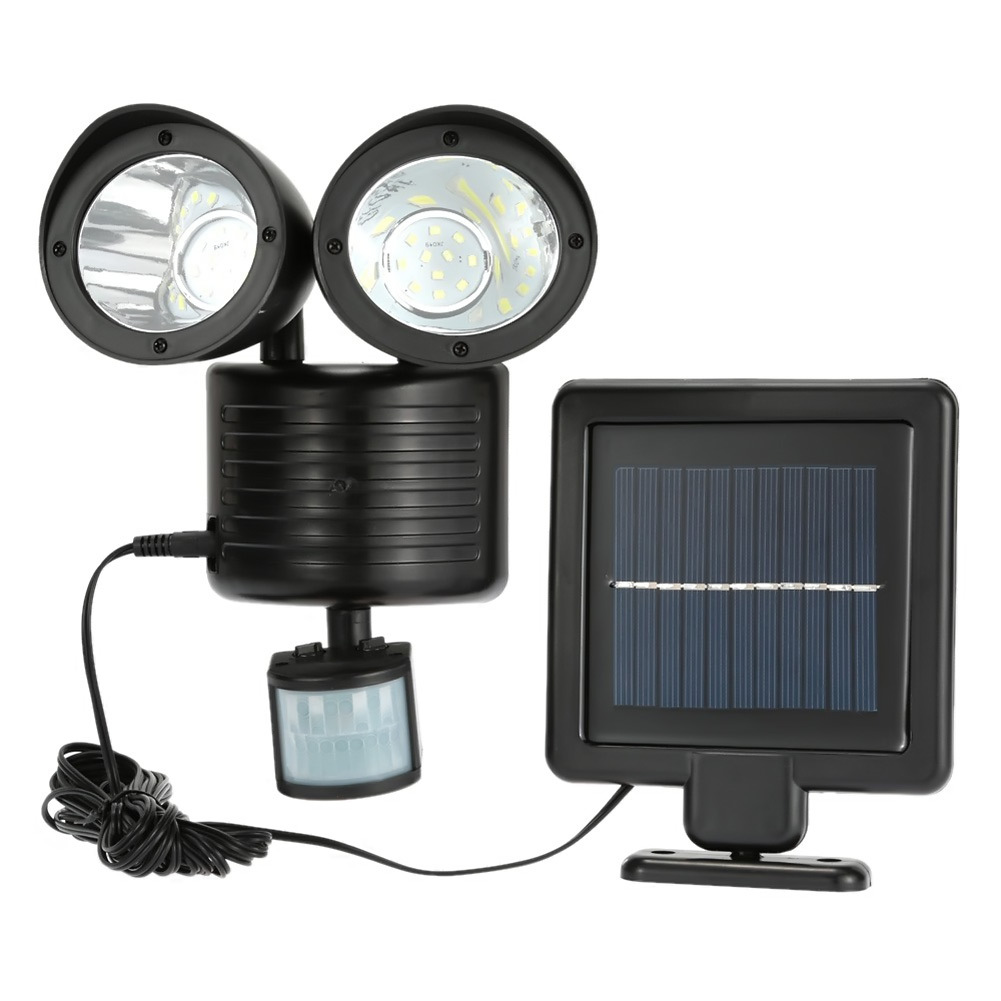 iMeshbean Dual Security Detector Solar Motion Sensor Spot Light Outdoor 22 LED Floodlight