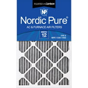 16x24x1 (15_1/2x23_1/2) Furnace Air Filters MERV 12 Pleated Plus Carbon 3 Pack
