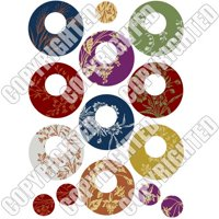 Nunn Design Collage Sheet Floral Circles For Scrapbook - Fits Patera