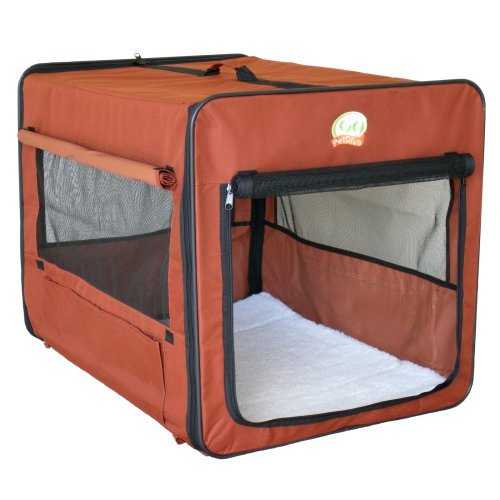 Go Pet Club Soft Pet Crate - Brown